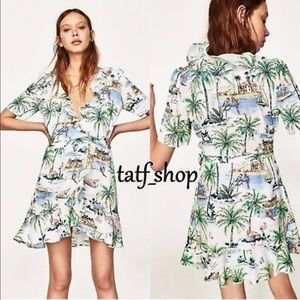 Dresses & Skirts - Zara tropical Wrap Dress